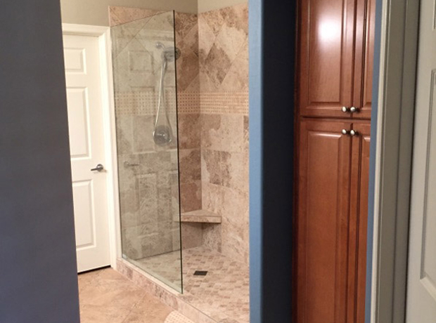 Fountain Hills Arizona Master Shower Remodel & Tub to Linen Cabinet Conversion – 17
