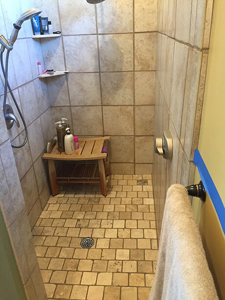 Fountain Hills Master Bathroom Remodel Shower - Before