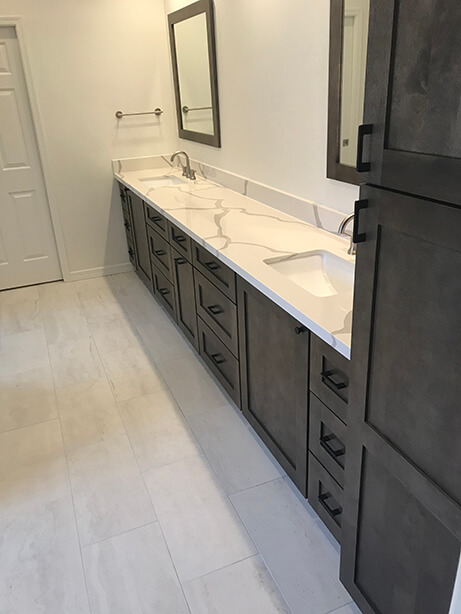 Master Bath Conversion Countertops - After