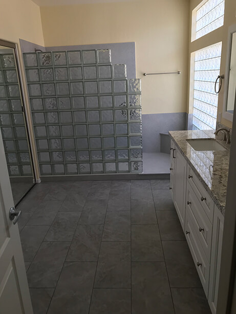 Master Bath Conversion Remodel Bathtub Coversion - After