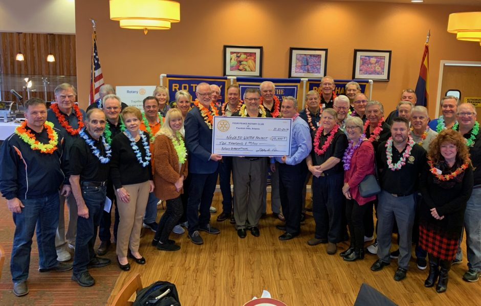 Four Peaks Rotary Club donation to the Navajo Water Project